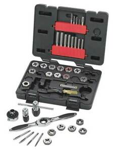 Tap And Die Set 40 Pc carbon Steel Gearwrench 3885