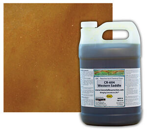 Professional Easy To Apply Concrete Acid Stain western Saddle 1 Gallon