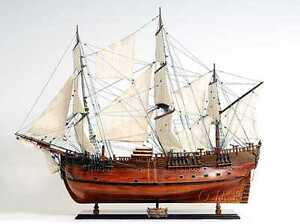 Handmade Wood Ship Model Hms Endeavour New Fully Assembled