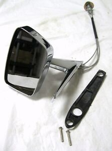 1967 1968 Ford Mustang Remote Outside Exterior Door Mirror Lh Left Hand
