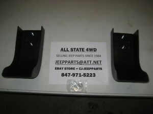 Bumper Ends 2 Pc Front Pair 1987 1995 Jeep Wrangler Yj With Hardware Brand New