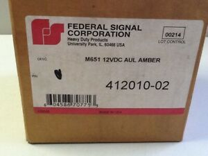 Federal Signal 412010 02 Strobe Amber Beacon 12vdc sku 1626 b35