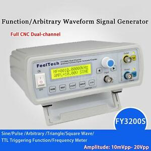 6mhz Digital Dds Dual channel Function Signal Generator Frequency Counter X4d3