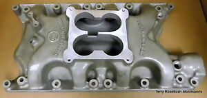 Offenhauser 5883 High rise 360 Intake Ford 351w 4500 Dominator Flange