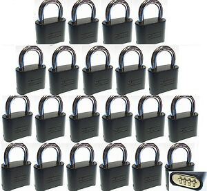 Combination Lock Set By Master 178dblk lot 21 Resettable Brass Insert Black