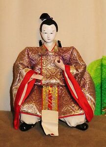 Antique Pre 1920 Japanese Seated 5 5 Male Attendant Hina Doll Aad4161415 8