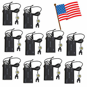 10 usa Dental Surgical Led Head Light Lamp Battery W clip For Loupe Ska black