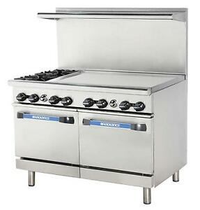 Radiance 48 Commercial Gas Range 2 Std Ovens 2 Burners 36 Griddle