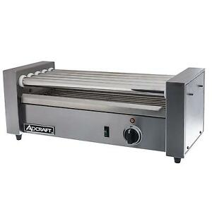 Adcraft Rg 05 Stainless 12 Hot Dog Roller Grill W 5 Rollers