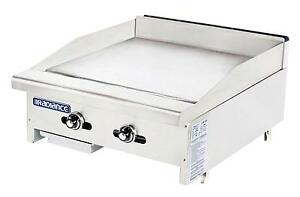 Radiance Tatg 24 24 Thermostatic Gas Griddle Stainless With 2 Burners