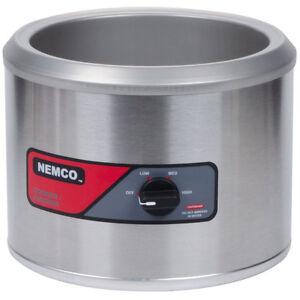 Nemco 6103a 220 11 Quart Counter Top Round Cooker Warmer 220v
