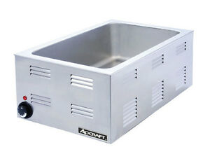 Adcraft Fw 1200w 2 4 Cu ft Electric Countertop Food Warmer 120 Volts
