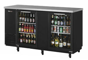 60in Narrow Depth Back Bar Cooler W Glass Doors