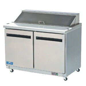 Arctic Air Amt48r Mega Top 48 Stainless Steel Sandwich Salad Prep Cooler