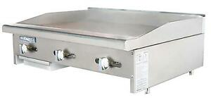 Radiance Tamg 36 36 Counter Top Gas Flat Commercial Griddle Manual Controls