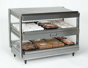 Nemco 6480 18 18 Horizontal Heated Display Merchandiser 2 Shelves 120v