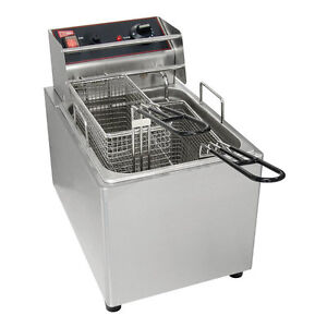 Gmcw El25 Electric Deep Fryer Counter Top 15lb Removable Tank