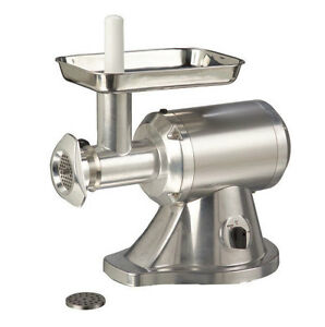Adcraft Mg 1 Electric Meat Grinder Aluminum With 12 Head 330lbs hr 1hp
