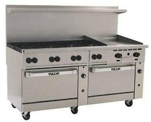 Vulcan 72sc 8b24g 72 Range 8 Burners 24 Griddle W convection standard Ovens