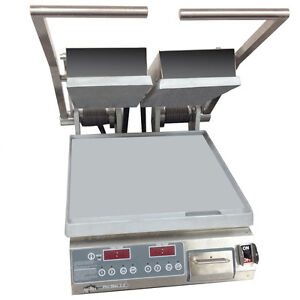 Star Pst14d Pro max Panini Grill Alum smooth Plates Electronic Control