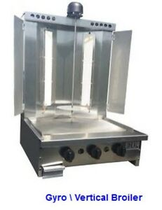Shwarma Gyro donair Machine Made In The Usa With Cooking Grill Front
