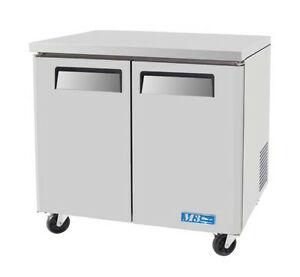Commercial Undercounter 36in 9 2 Cu ft Freezer 2 Door