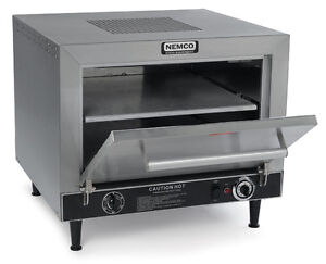 Nemco 6205 Counter Top Electric Pizza Oven Double 19 Stone Decks