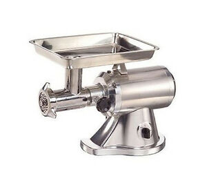 Adcraft Mg 1 5 Electric 1 5 Hp Meat Grinder Aluminum With 22 Head