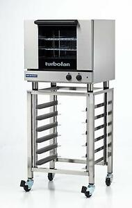 Moffat E23m3 sk23 Electric Convection Oven Half Size 3 Pan W Mobile Stand