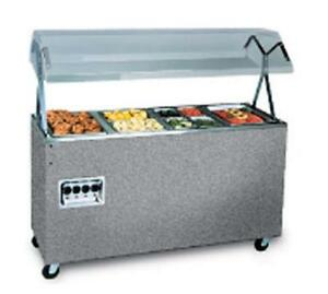 Vollrath T3872746 3 Well Mobile Hot Food Steam Table W Lights Granite
