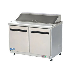 Arctic Air Ast48r 48 Stainless Steel Sandwich Salad Prep Cooler