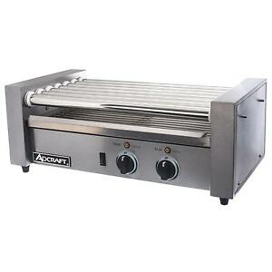 Adcraft Rg 07 18 Hot Dog Roller Grill Stainless 7 Rollers Dual Control