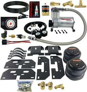 Air Tow Assist Kit White Gauge In Cab Management For 2003 13 Dodge Ram 2500 3500
