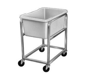 Channel Manufacturing 600 Mobile Aluminum Bus Food Storage Cart W Stackable Bin