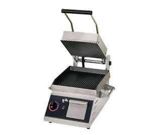 Star Pgt7i Two Sided Panini Sandwich Grill Iron Grooved 10 X 10