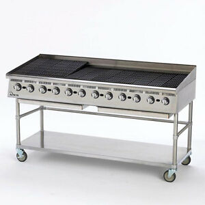 Star 8172rcbb Ultra max 72 Wide Countertop Radiant Gas Charbroiler