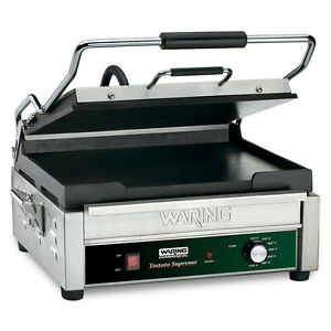 Waring Wfg275 Tostato Supremo 14 X 14 Flat Sandwich Panini Grill 120v