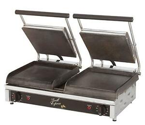Star Gx20i Smooth Or Grooved 2 sided Double Sandwich Panini Grill 240v