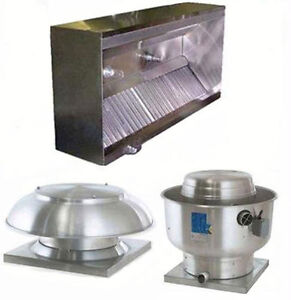Superior Hoods 8ft Etl Listed Hood System W Make up Air Exhaust Fans