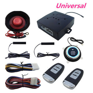 Keyless Entry Car Alarms Security Systems W engine Ignition Push Button Starter