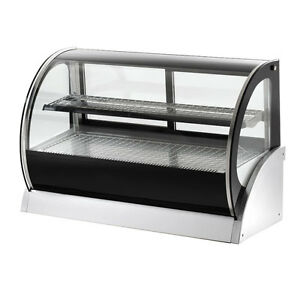 Vollrath 40857 59 Heated Curved Glass Deli Countertop Display Case 2 Shlvs