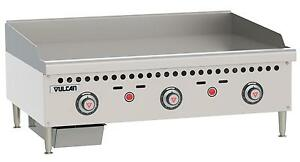 Vulcan Vcrg36 t Medium Duty 36 Snap Action Thermostatic Gas Griddle