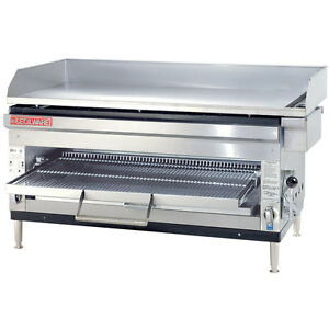 Gmcw Hdb2042 42in Counterop Gas Griddle Overfire Broiler