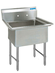 Bk Resources Bks 1 18 12s 18 x18 x12 One Compartment Sink W S s Legs