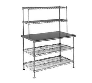 Eagle Group T3060ebw 2 Commercial Work Table System 30 X 60 X 63 W Shelves
