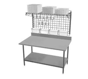 Eagle Group Tspp2460z Commercial Pizza Prep Station Workstation Table W Shelves