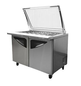 30 Pan 23 Cuft Glass Top Refrigerated Prep Table