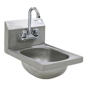 Eagle Group Hsan 10 f Ss Wall Mount Hand Sink W Splash Mounted Faucet