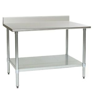 Eagle Group T3060seb bs 1x Deluxe Work Table 60in X 30in Ss Work Top Backsplash
