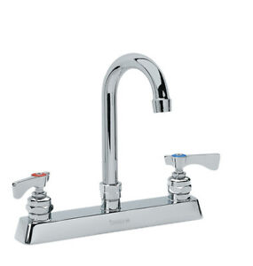 Krowne Metal 15 502l Royal 8 Deck Mount Faucet 8 5 Gooseneck Spout Low Lead